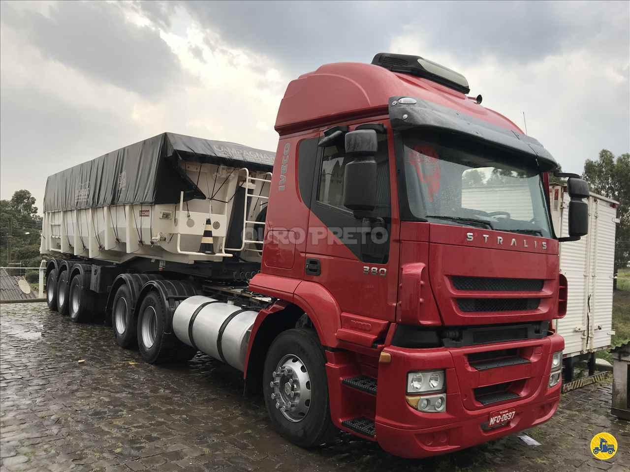 CAMINHAO IVECO STRALIS 380 Caçamba Basculante Truck 6x2 Ouro Preto Caminhões LAGES SANTA CATARINA SC